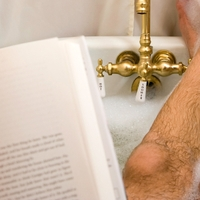 Reading in the bath_sm